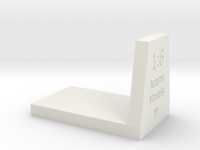 dovetail 1:6 in White Natural Versatile Plastic