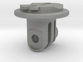 GoPro / Garmin Quarter-Turn Adapter Mount in Gray PA12: Small