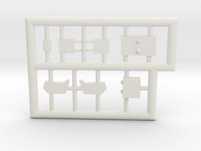 F5A-144-4-partfret-white-3 in White Natural Versatile Plastic
