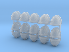 30 Batman Shoulder Pads in Smooth Fine Detail Plastic