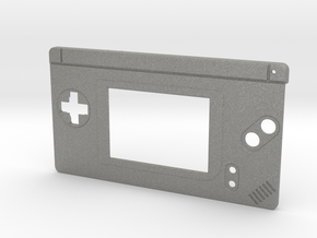 Gameboy Macro Faceplate (for DS Lite) - 2 Buttons in Gray PA12