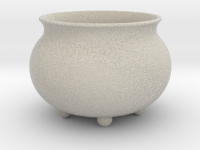 "Pot ""Futuristic"" in Natural Sandstone"