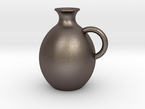 Decanter 0.5L in Polished Bronzed-Silver Steel