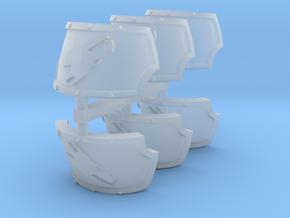Fire Dragons Centaur Shoulder Pads set in Smooth Fine Detail Plastic