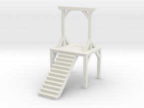 Gallows - Double Posted (1/87 Scale) in White Natural Versatile Plastic