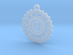 Magic Letter W Pendant in Smooth Fine Detail Plastic
