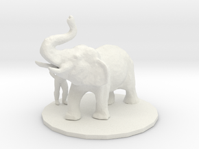 S Scale Elephant trainer in White Natural Versatile Plastic