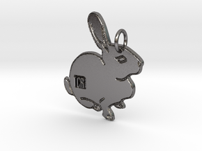 TCR - Pendant official in Polished Nickel Steel: Extra Large
