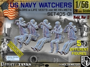 1/56 USN Watchers Set405-01 in Smooth Fine Detail Plastic