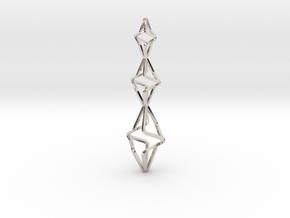 TRISTAR, Pendant. Big Bold Strong in Platinum