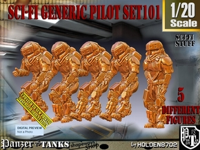 1/20 Sci-Fi Generic Pilot Set101 in White Natural Versatile Plastic