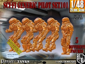1/48 Sci-Fi Generic Pilot Set101 in Smooth Fine Detail Plastic