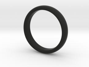 Simple ring in Black Premium Versatile Plastic