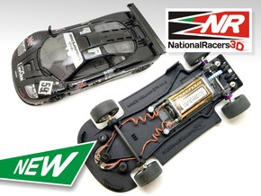 3D Chassis - NINCO McLaren GTR (Combo) in Black Natural Versatile Plastic
