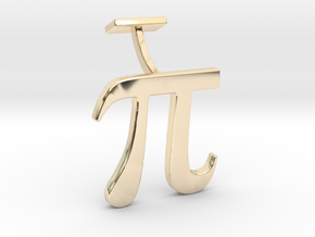 Pi Cuff link in 14K Yellow Gold