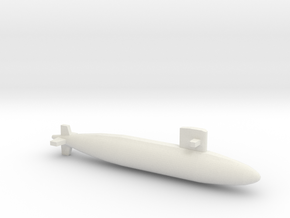 Yūshio-class submarine, Full Hull, 1/1800 in White Natural Versatile Plastic