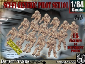 1/64 Sci-Fi Generic Pilot Set101 in Smooth Fine Detail Plastic