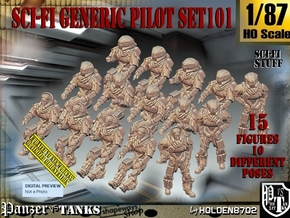 1/87 Sci-Fi Generic Pilot Set101 in Smooth Fine Detail Plastic