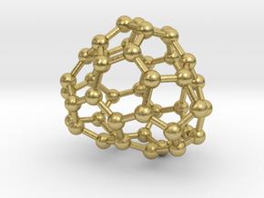 0655 Fullerene c44-27 c1 in Natural Brass