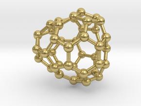 0656 Fullerene c44-28 cs in Natural Brass