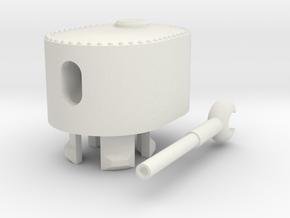 1/100 JN-1/2 Turret in White Natural Versatile Plastic