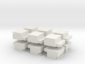 Utah Beach Block House  x12 in White Natural Versatile Plastic