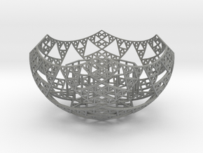 Fractal Tealight Holder in Gray PA12