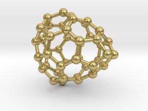 0664 Fullerene c44-36 c1 in Natural Brass