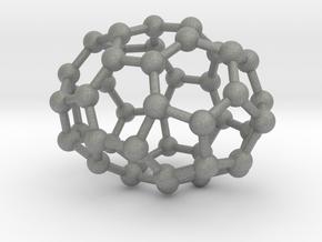 0665 Fullerene c44-37 d3h in Gray Professional Plastic