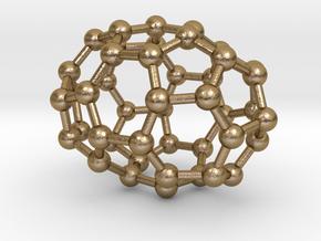0666 Fullerene c44-38 d3d in Polished Gold Steel