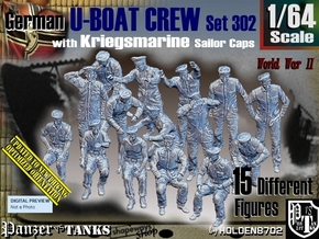 1/64 German U-Boot Crew Set302 in Smooth Fine Detail Plastic