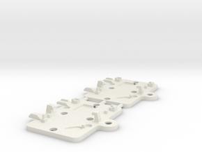 S99-S04-2: 2x bay lid for Slot.it 'type C' chip in White Natural Versatile Plastic