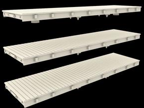 N Scale 30' Logging Flat Car in Frosted Ultra Detail