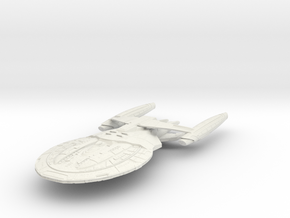 "Federation Hood Class BattleShip 7.7"" long in White Natural Versatile Plastic"