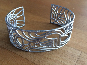 abstract cuff no. 12 slim version in Polished Nickel Steel