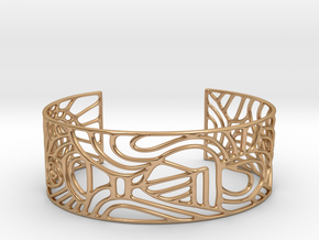 abstract cuff no. 12 slim version in Polished Bronze