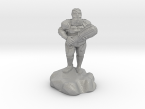 hill dwarf with greatclub in Aluminum