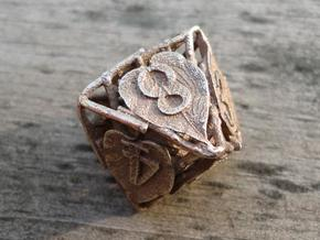 Botanical Die8 (Lilac) in Polished Bronzed Silver Steel
