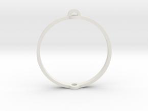 "World 1.25"" (Ring) in White Natural Versatile Plastic"