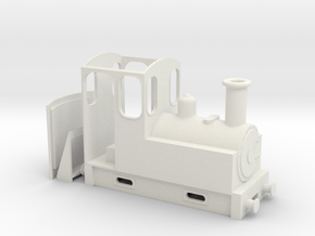 On18 Steam Tram Locomotive  in White Natural Versatile Plastic