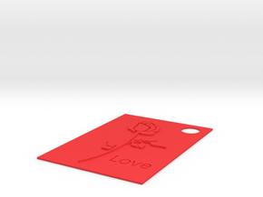 Flower Charm.stl in Red Processed Versatile Plastic
