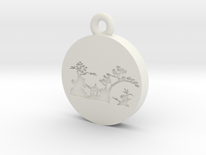 Moon in White Natural Versatile Plastic: Small