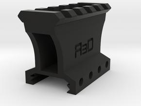 "1-1/4"" 4 to 5 Slots Picatinny Riser (Centered) in Black Natural Versatile Plastic"