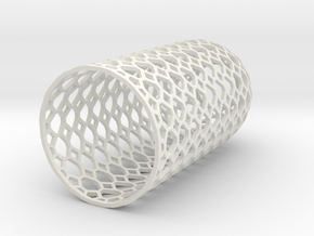 Lampshade_dome_honey_wire in White Natural Versatile Plastic