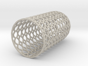Lampshade_dome_honey_wire in Natural Sandstone