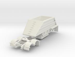 000484 24 Fus Dumper Anhänger in White Natural Versatile Plastic: 1:87 - HO