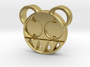 RADIOHEAD BUTTON in Natural Brass