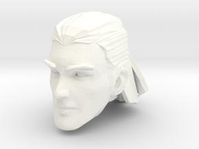 human head male 2 medium hair in White Processed Versatile Plastic