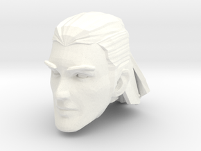 human head male 2 medium hair in White Processed Versatile Plastic
