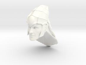 head elf 2 with helmet in White Processed Versatile Plastic
